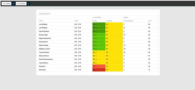 Driver Feedback Report Web Portal