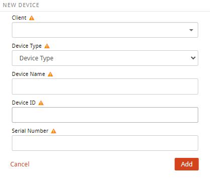 New Device Widget